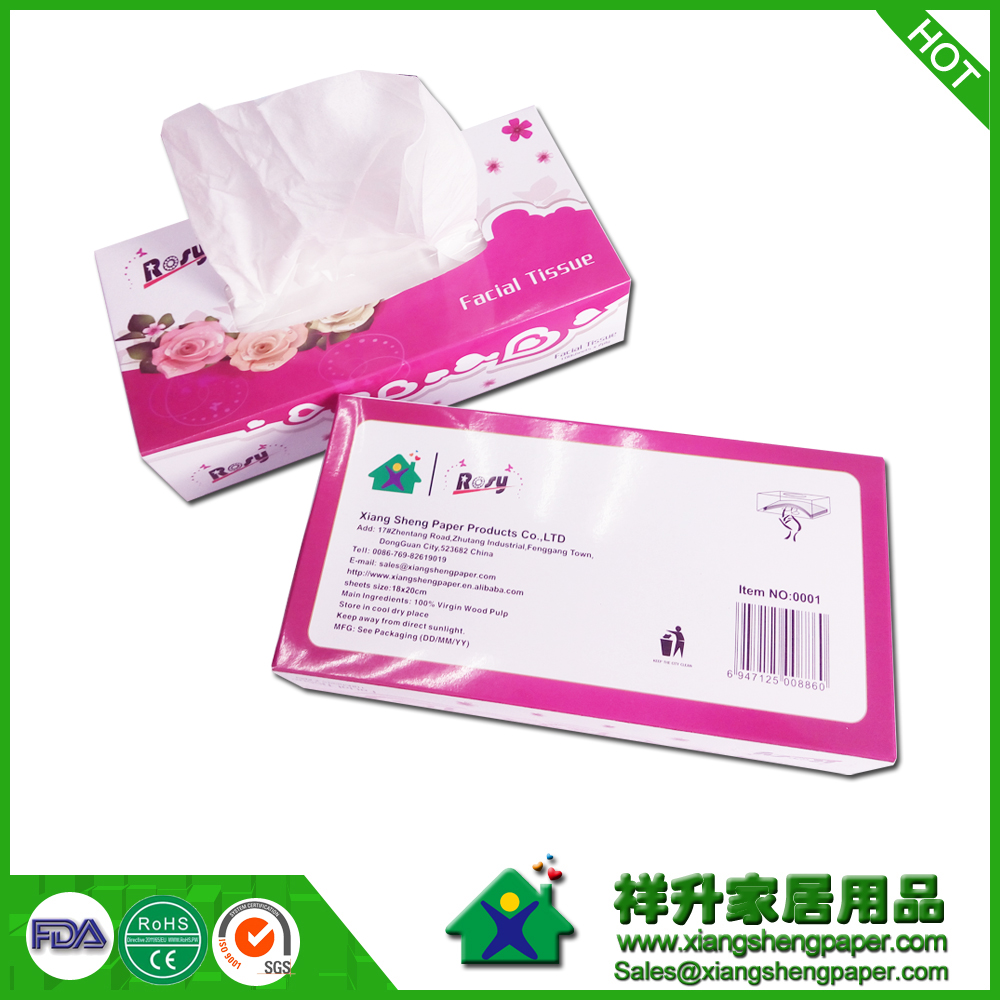 Direct printing on facial tissue